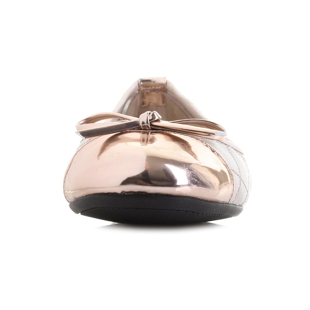 Womens-Butterfly-Twist-Olivia-Mink-Rose-Gold-Metallic-Ballerina-Flat-Sho-Shu-Siz