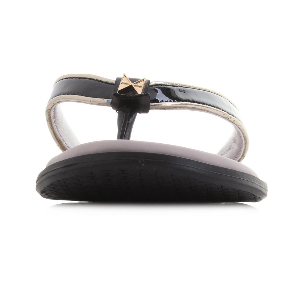 1dcd5a8d2f3f Womens Butterfly Twist Bondi Black Patent Gold Sandals UK Size