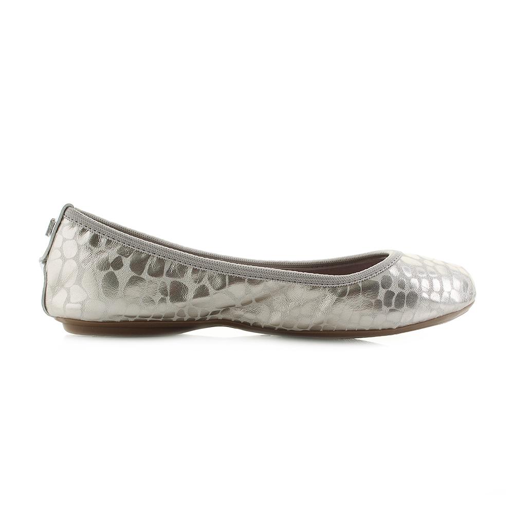 Womens-Butterfly-Twist-Sophia-Light-Gold-Metallic-Leopard-Flat-Shoes-Shu-Size