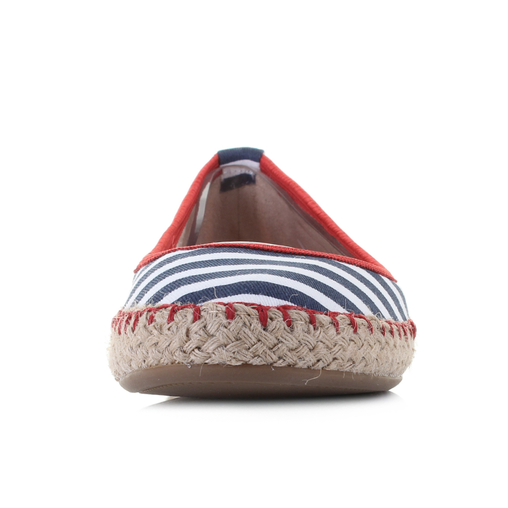 Womens-Butterfly-Twists-Gigi-Navy-White-Stripe-Flat-Ballet-Pumps-Shu-Size