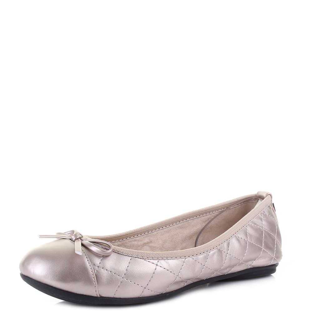 Details about Womens Butterfly Twists Olivia Rose Gold Flat Ballet Pumps  Size 625c7e25a