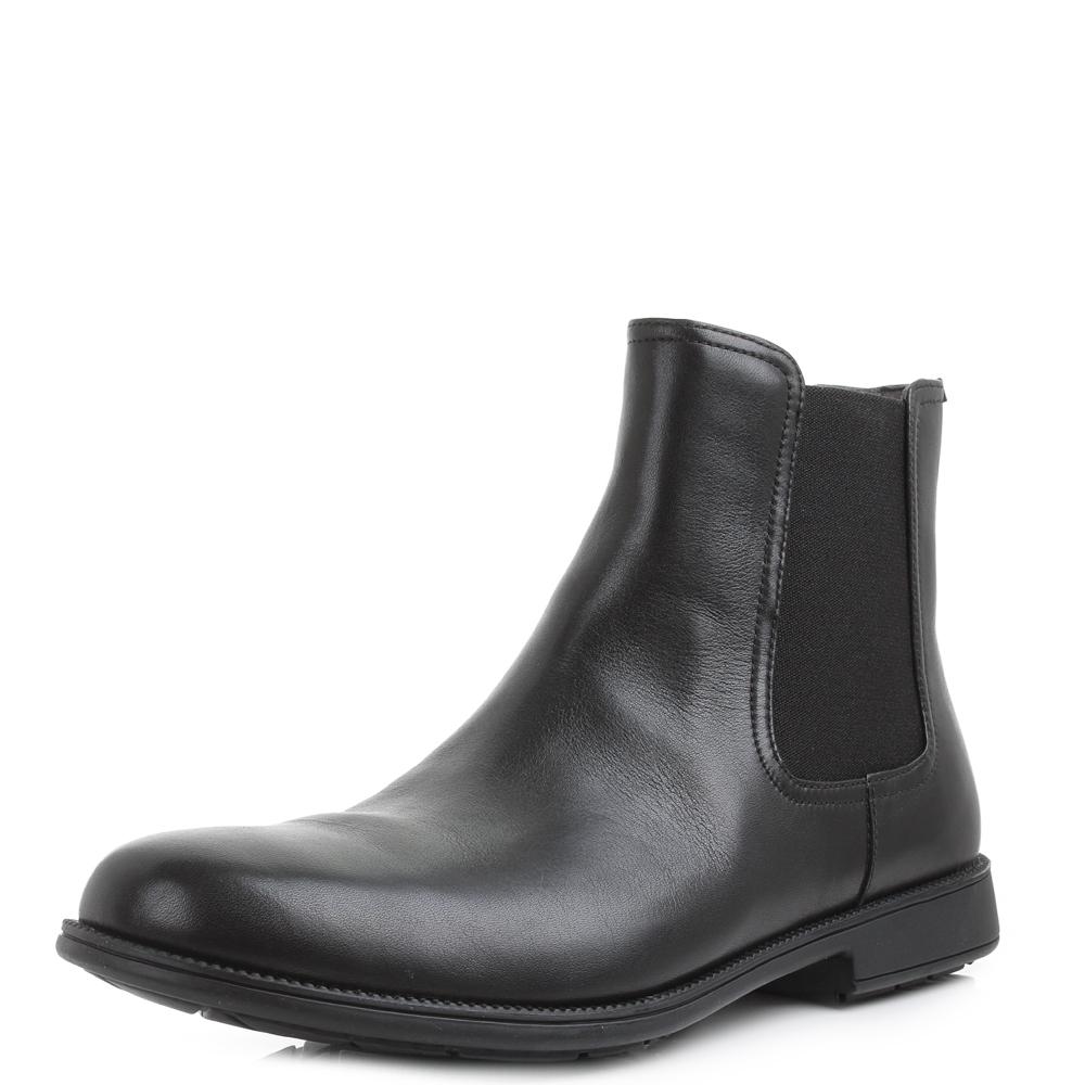 Mens Camper 1913 Supersoft K3000132-001 Black Leather Chelsea Boots Size