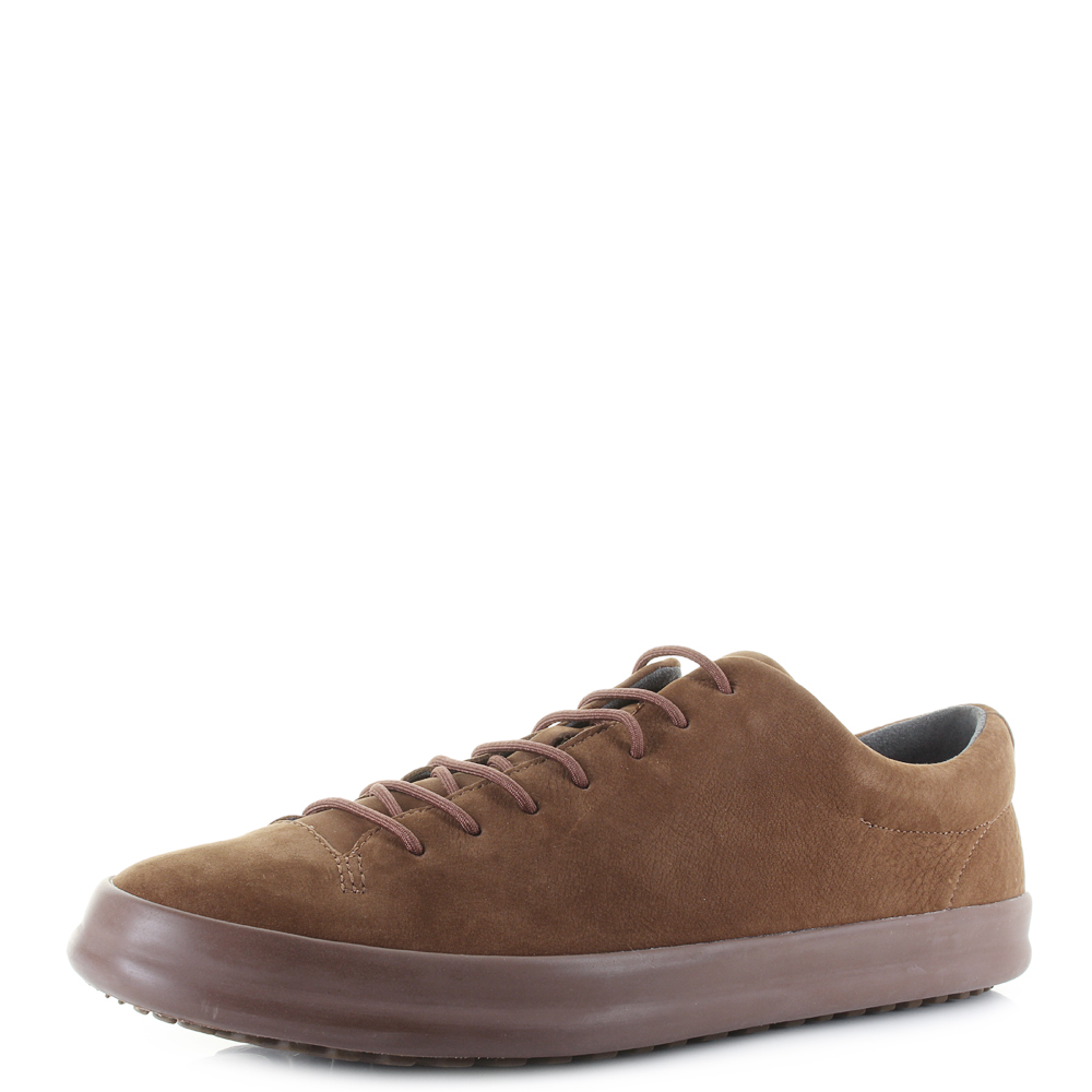 a565445dda5d Mens Camper Chasis Sport Campbuck Faune Brown Leather Trainers Size ...
