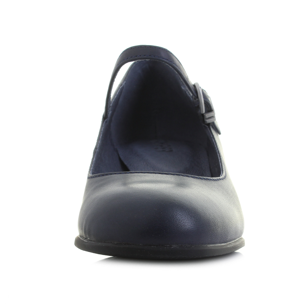 2891efc51cb8 Womens Camper Katie Navy Blue Leather Mary Jane Court Shoes Shu Size ...