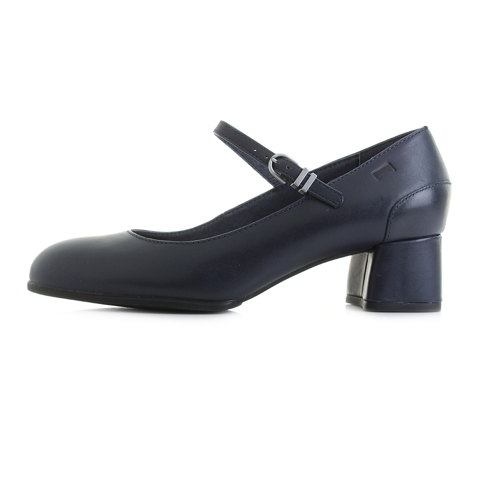 deef9e055769 Womens Camper Katie Navy Blue Leather Mary Jane Court Shoes Sz Size ...