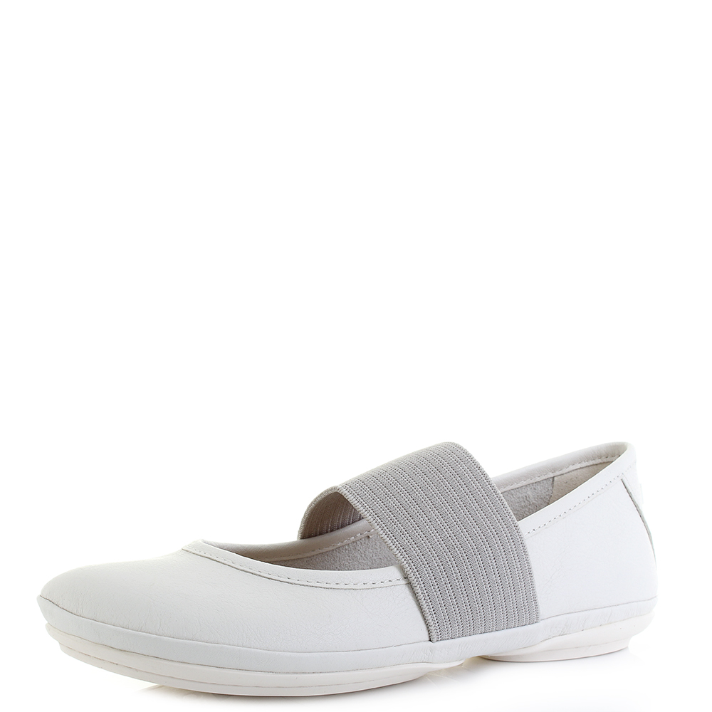 Womens-Camper-Right-Nina-Sella-White-Leather-Flat-Ballerina-Shoes-Shu-Size