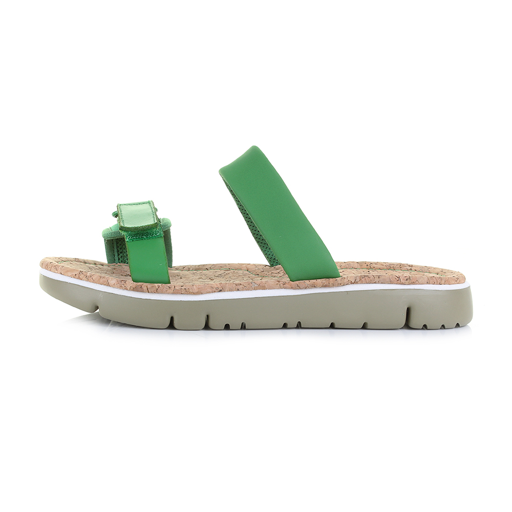 0d5570df14c3 Womens camper oruga green flat slip on mule leather sandals shu size jpg  1000x1000 Green flat