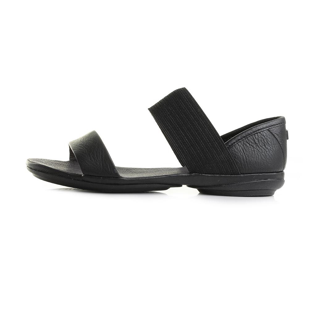Taille Nina Plates Détails Afficher Noir Le En Sandales Chaussures Cuir Sur Camper Titre D'origine Right Femme nwm0OvN8