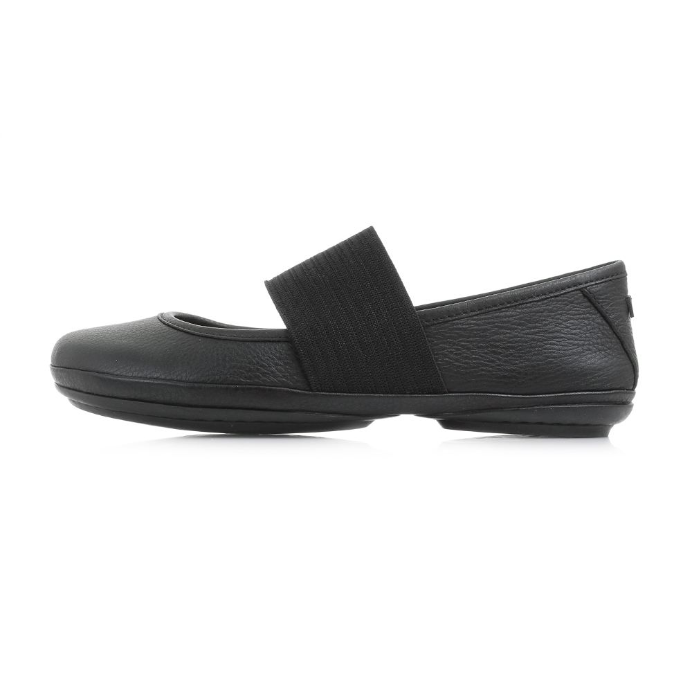 Womens-Camper-Right-Nina-Black-Black-Leather-Flat-Ballerina-Shoes-Shu-Size