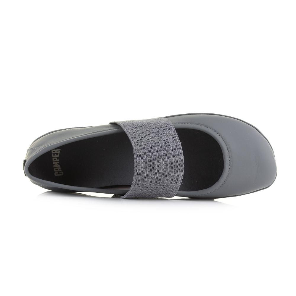 Womens-Camper-Right-Nina-Grey-Leather-Flat-Ballerina-Shoes-Shu-Size