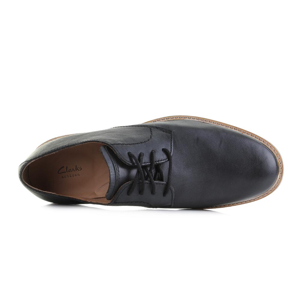 Details about Mens Clarks Atticus Lace G Fit Black Leather Smart Lace Up Shoes Shu Size