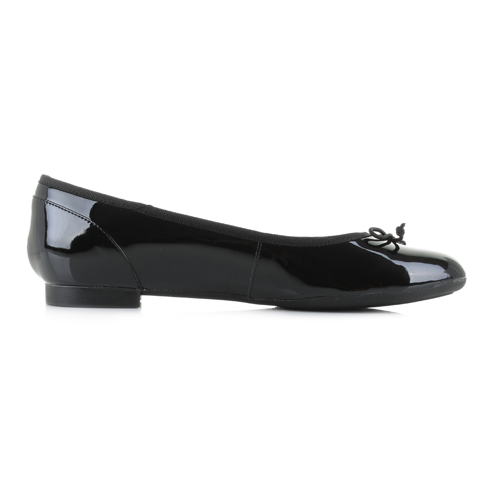 Womens-Clarks-Couture-Bloom-Black-Patent-Flat-Shoes-