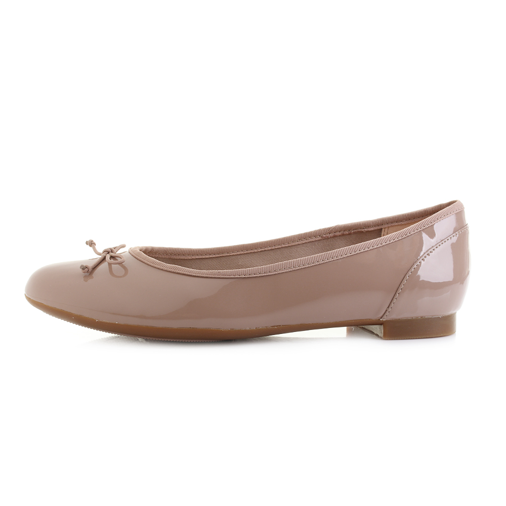 ca49a9b5b14f Womens Clarks Couture Bloom Nude Patent Flat Ballerina Shoes Pumps D fit  Shu Siz