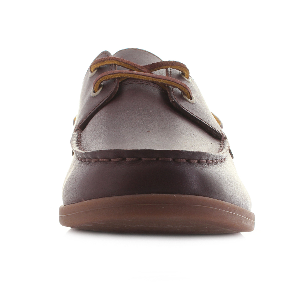 ee0848d9aeb Mens Clarks Morven Sail British Tan Leather Boat Shoes G Fit Size