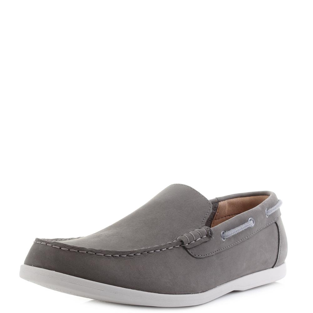 29707a50469 Mens Clarks Morven Sun Dark Grey Nubuck Slip On Leather Loafers Shoes Shu  Size