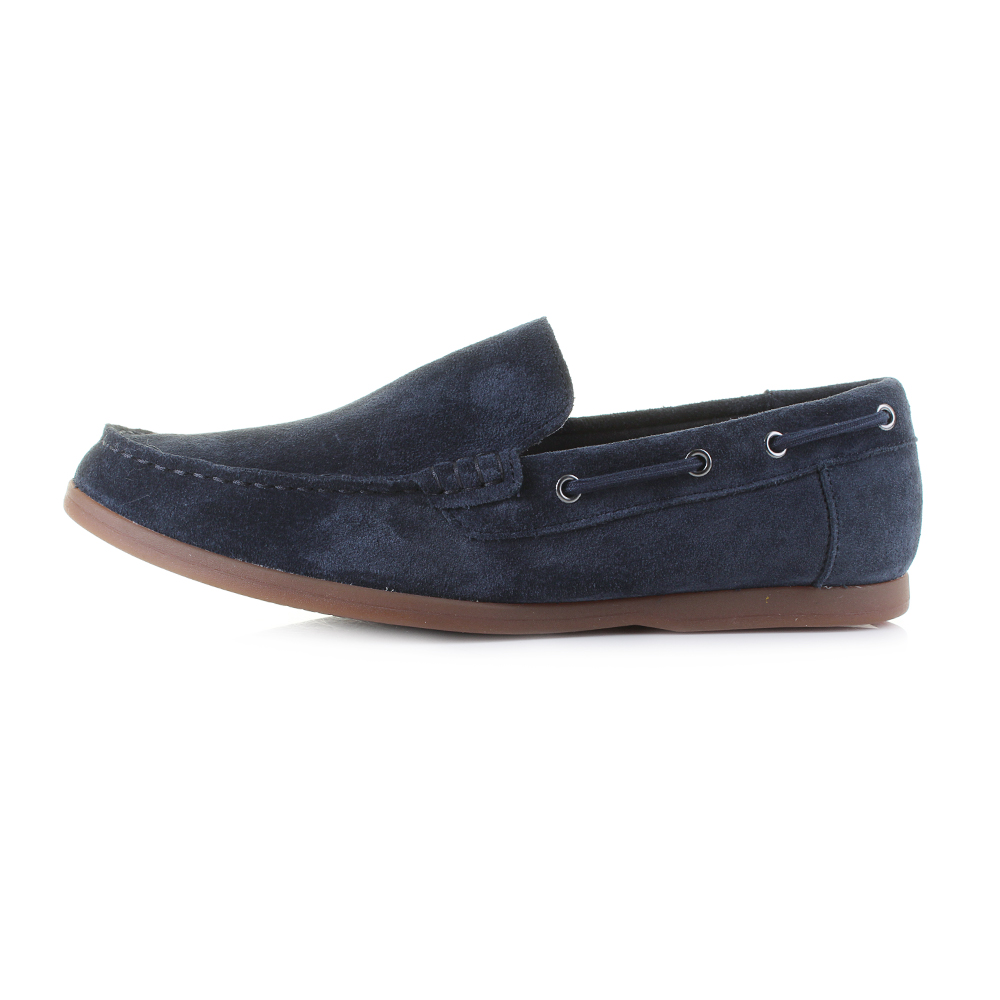 4041f294f1aef Mens Clarks Morven Sun Navy Suede Loafer Boat Shoes Shu Size | eBay