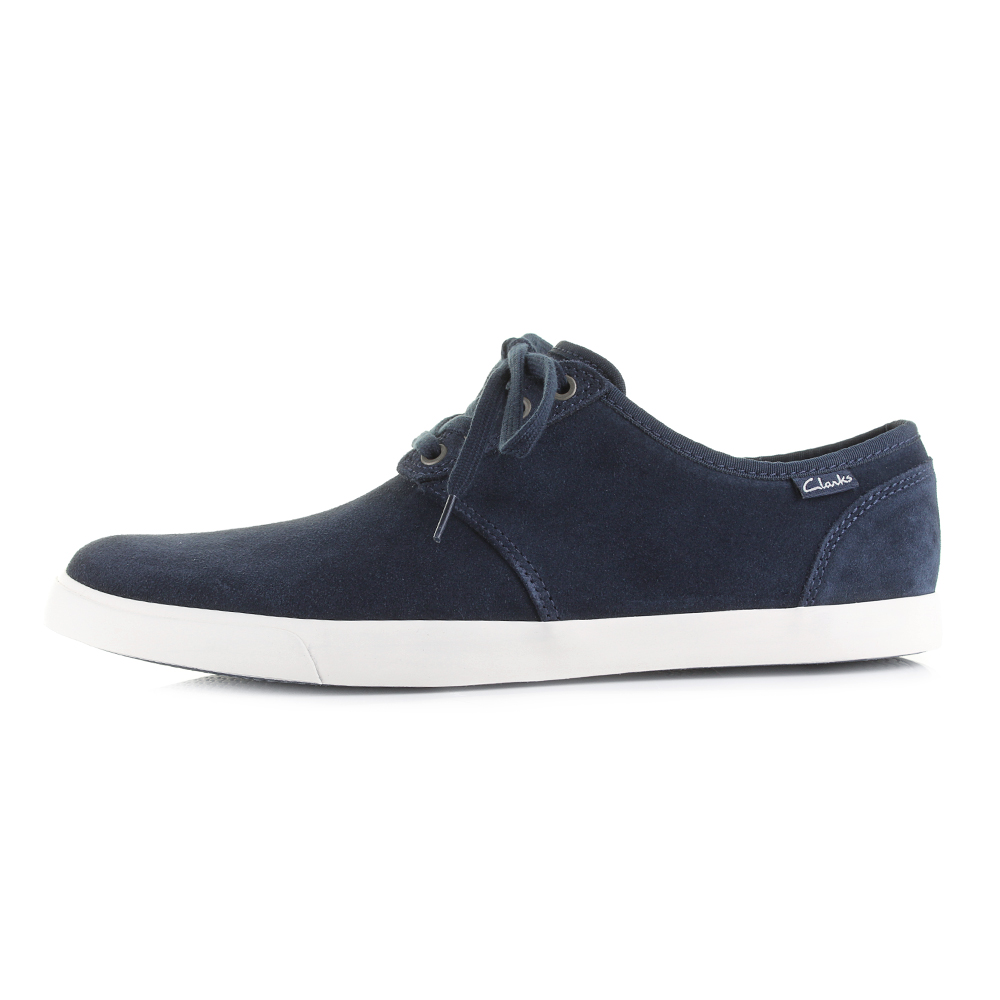 Mens-Clarks-Torbay-Lace-Navy-Casual-Suede-Shoes-