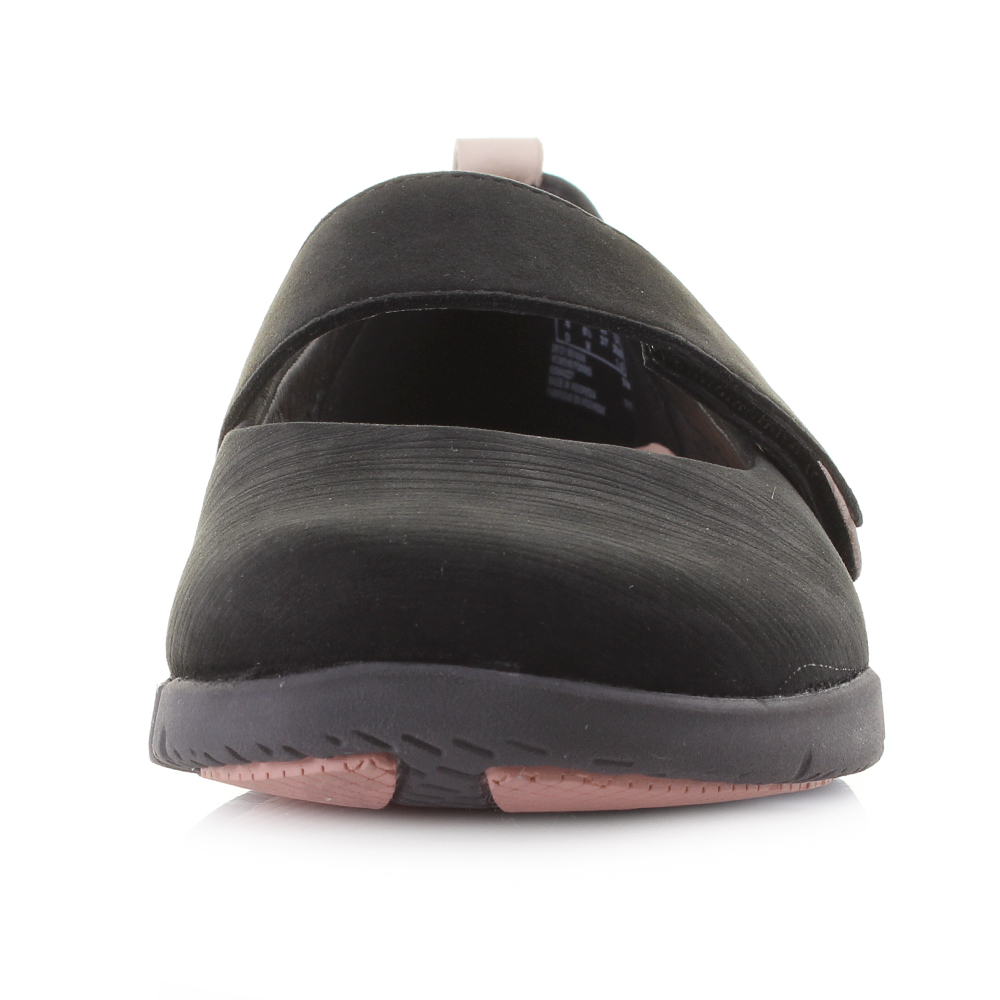 Womens Clarks Tri Carrie Black Mary Jane Flat Comfort Shoes D Fit Size