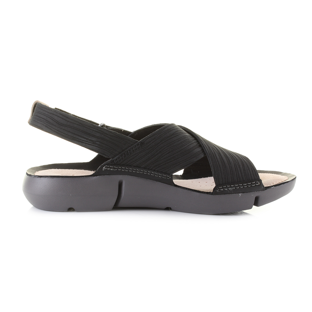 4bc20647665c Womens Clarks Tri Chloe Black Crossover Comfort Sandals D Fit Sz Size