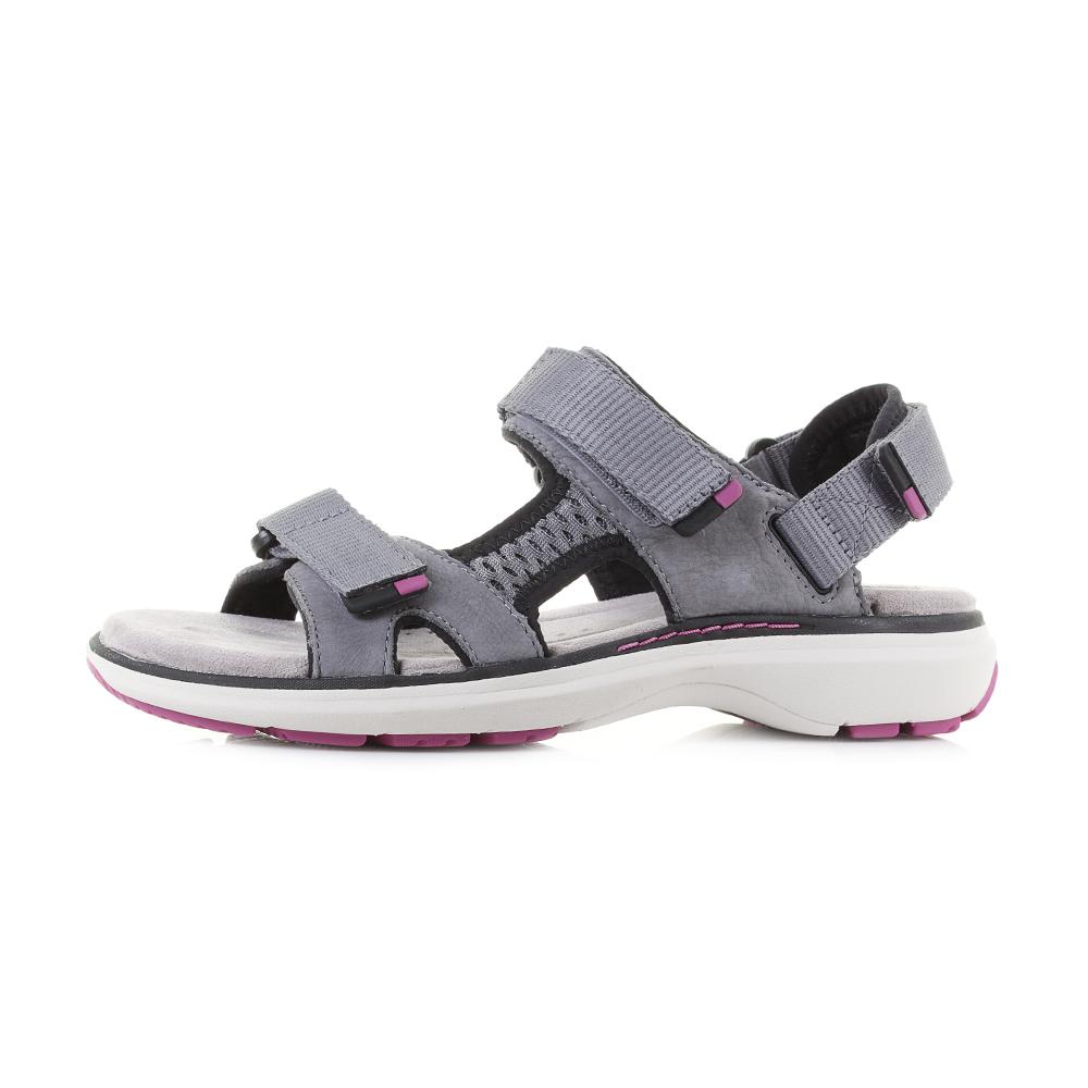 4934b3e068b Womens Clarks Un Roam Step Grey Nubuck Leather Strappy Sports Sandals UK  Size