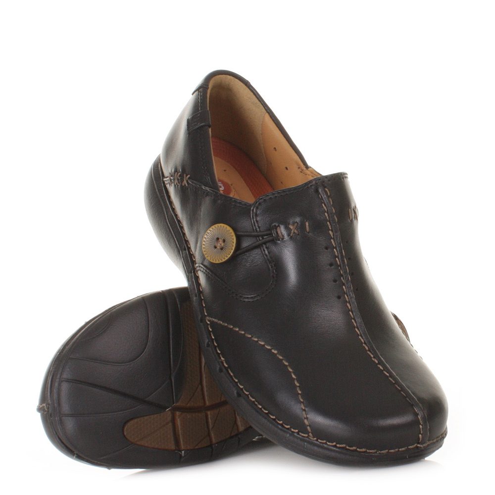 Clarks Unloop Shoes   Black