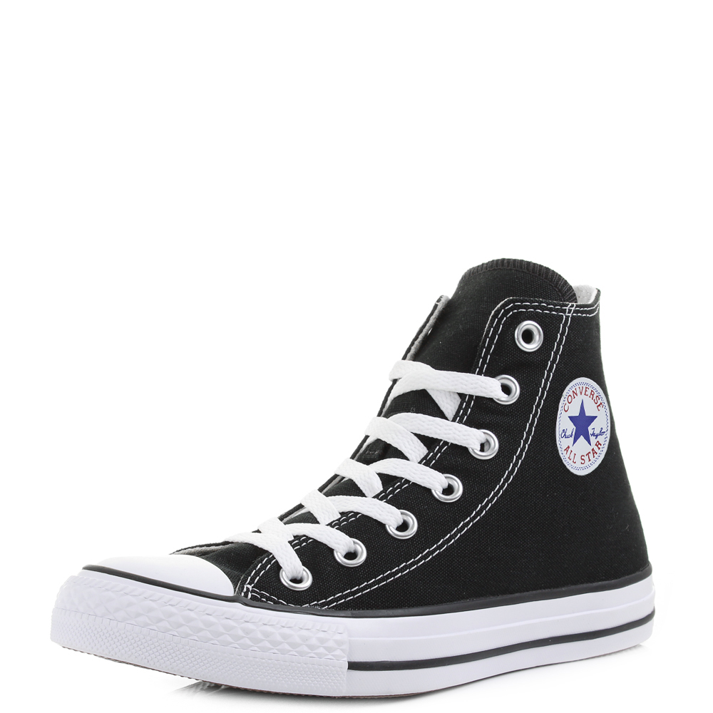 Converse All Star Unisex White Hi Top Boys Girls Taglia 7 Chuck Taylor.