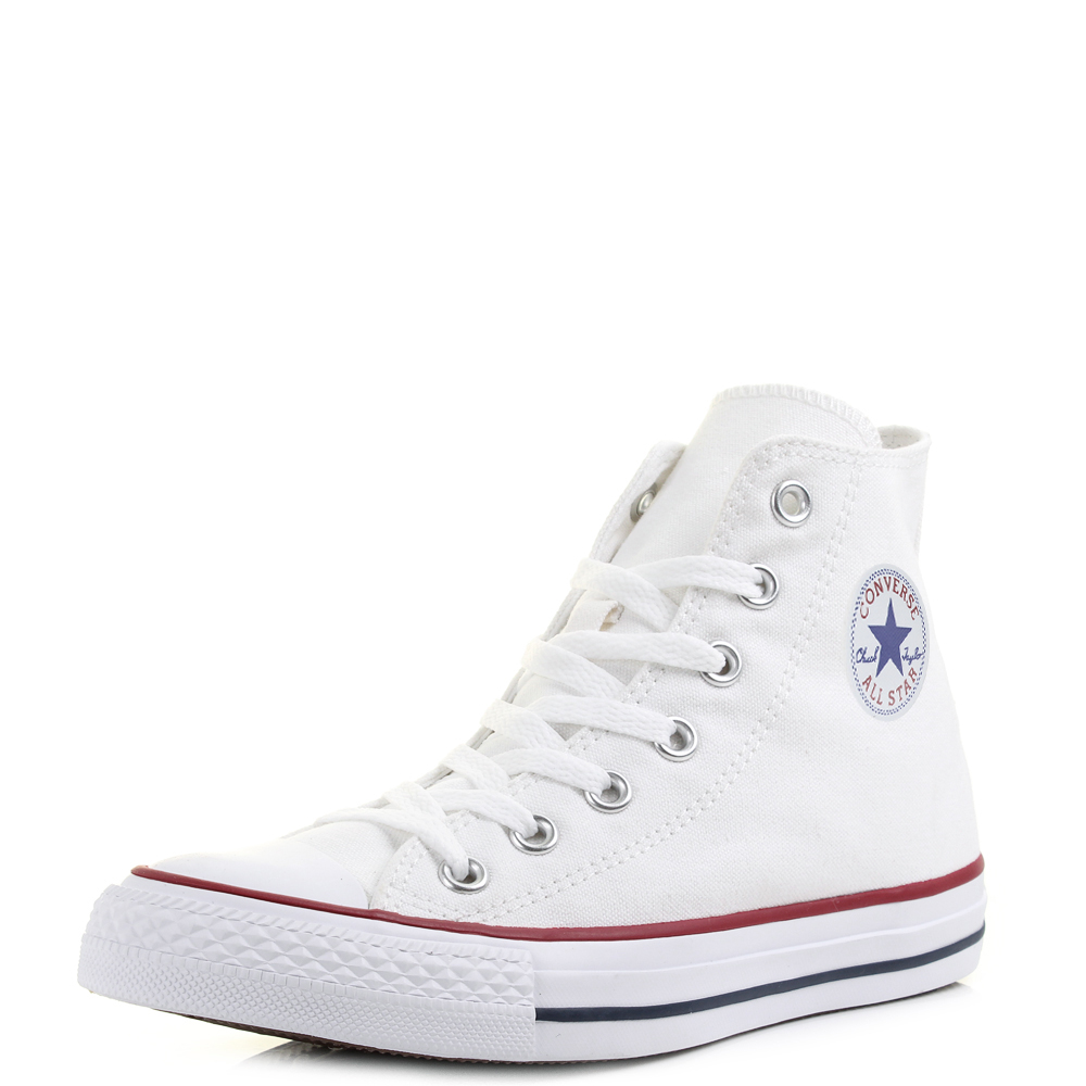 c7dff1f421c73f Details about Mens Womens Converse All Star Hi Top Optical White Trainers  Size