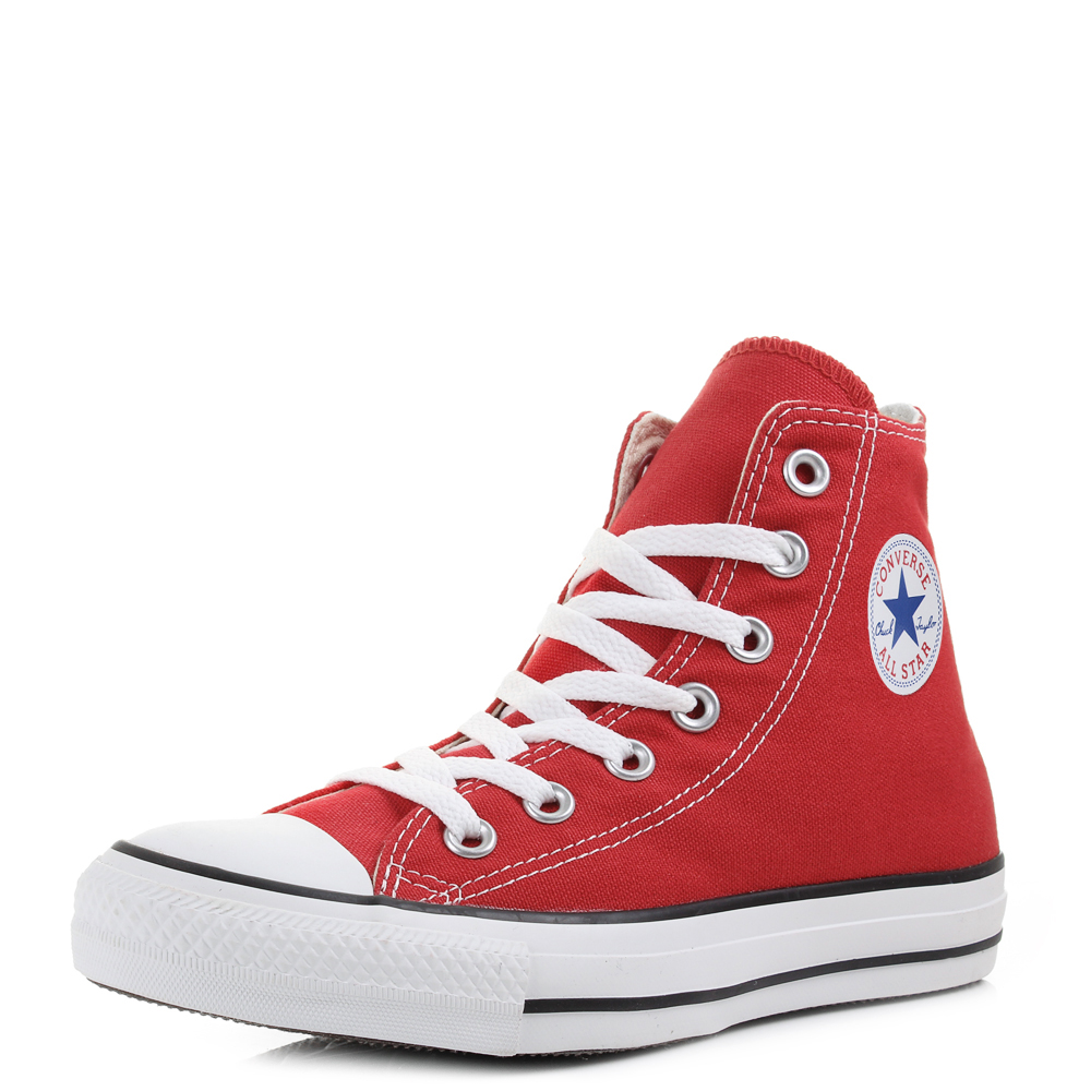 7fd251968bf7 Converse Chuck Taylor All Star Hi Top Red Baseball Boots Trainers Size