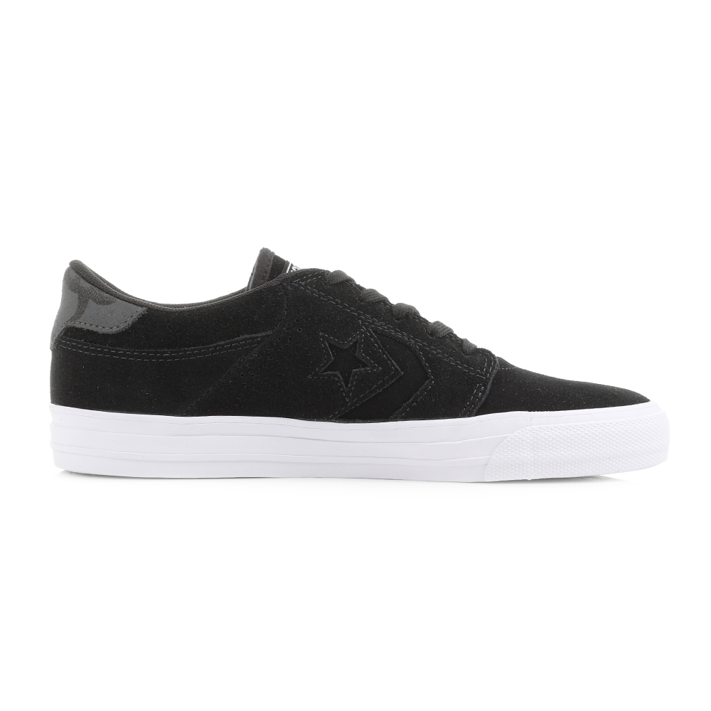 black mens converse trainers