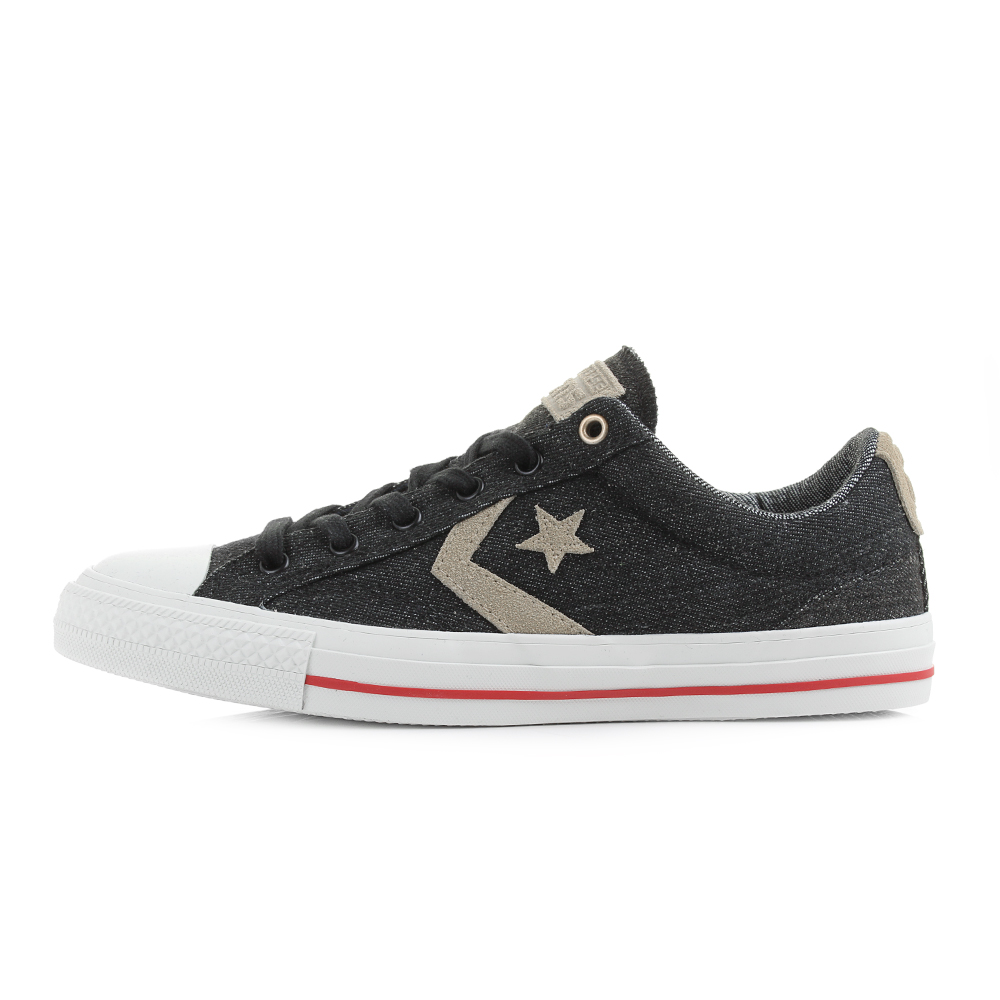 Mens Converse Cons Star Player Denim Black Sandy Grey Trainers Size