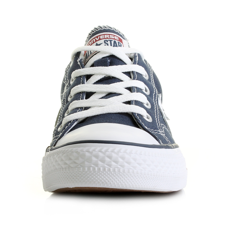 21470461dc40cd Unisex Converse Con Star Player Oxford Navy White Low Top Trainers Size