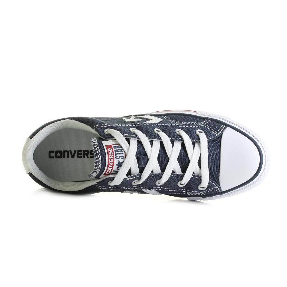 c1e1d2e649df2e Classic Converse in the Con Star Player in the Oxford Navy White great  addition to your wardrobe. Ideal for your casual outfit with your jeans and  very ...