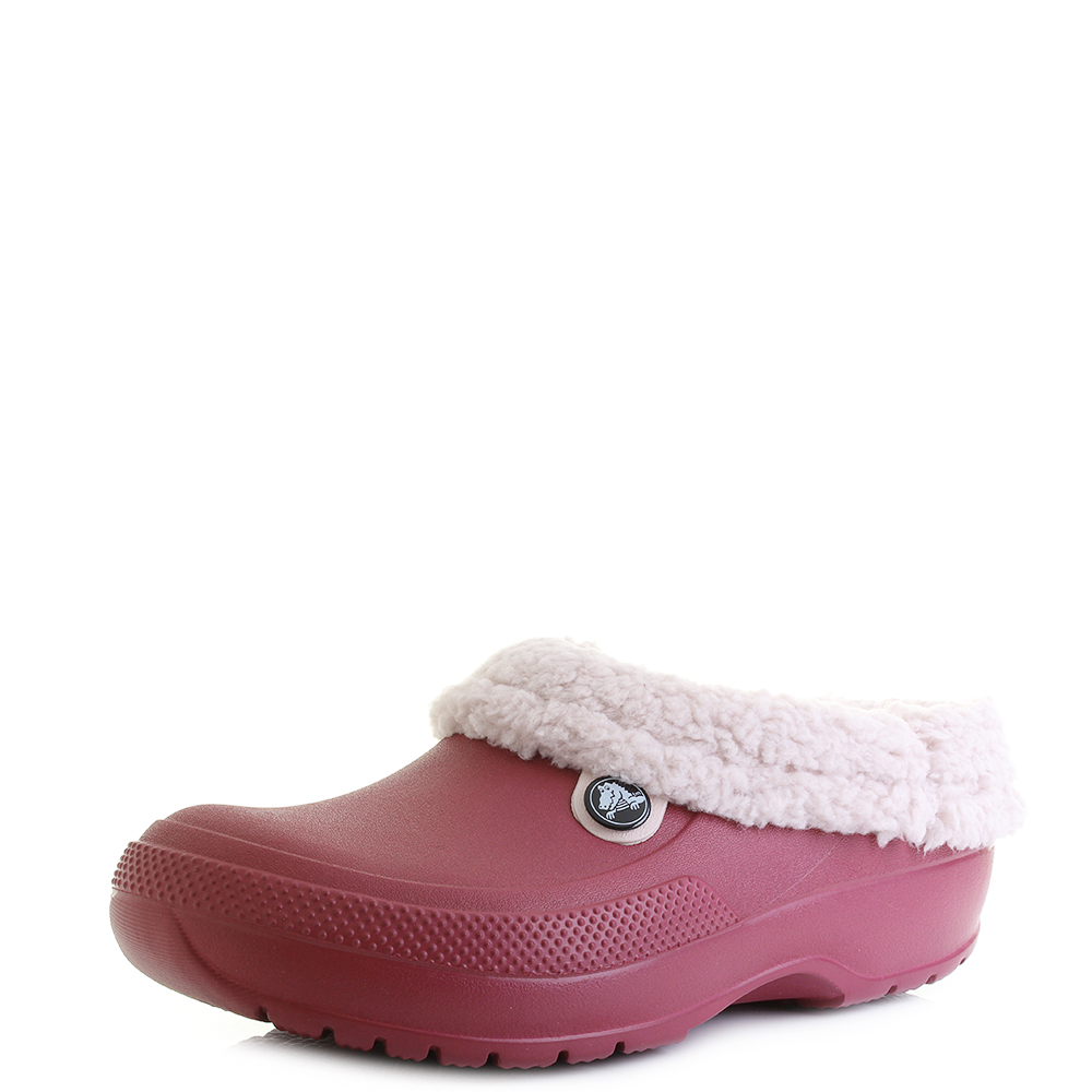 Womens Crocs Classic Blitzen 3 Clog Pomegranate Pink Winter Sandals Shu Size 0bd8c39d9e