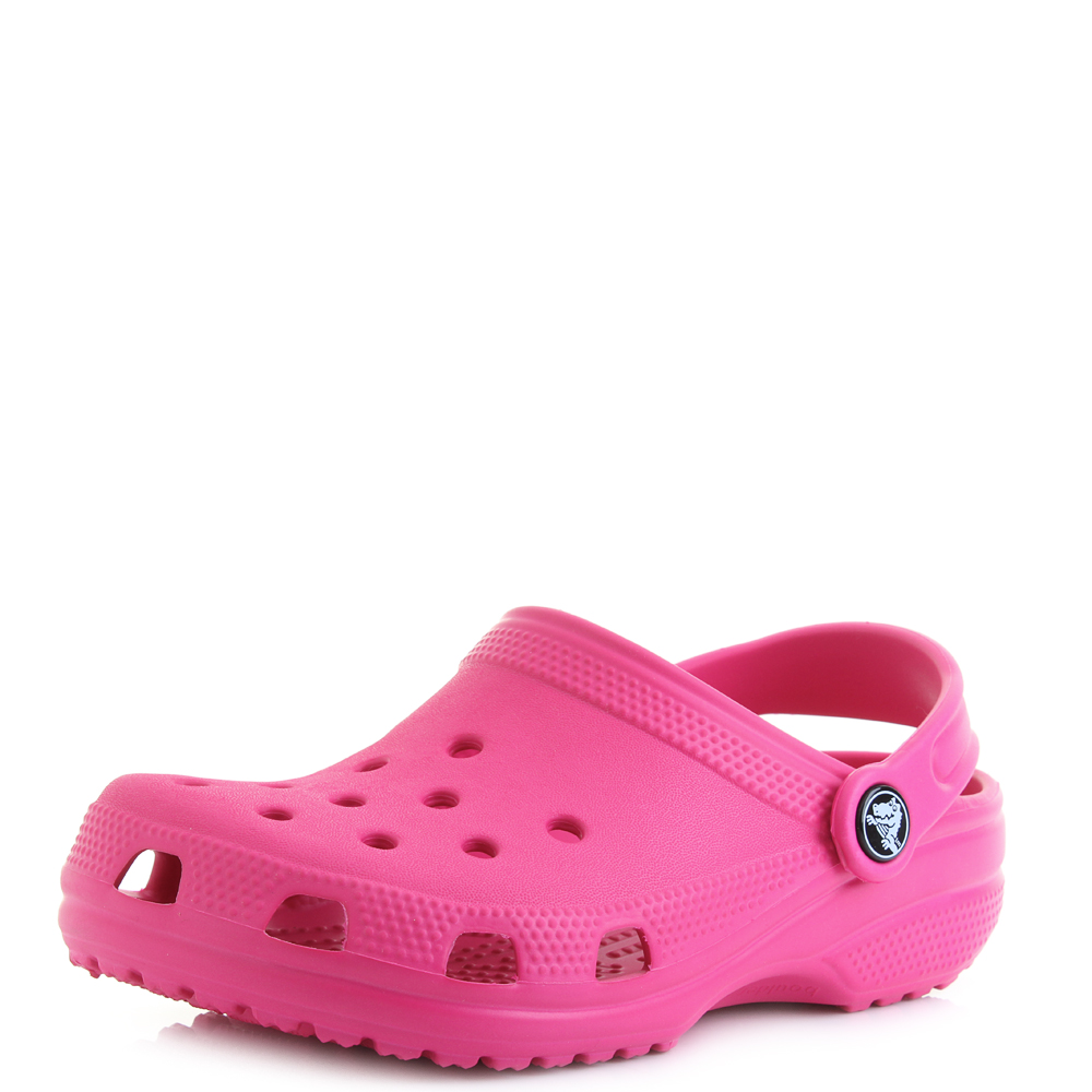 f163cbda044f Crocs Classic Clog Girl s Candy Pink Slip on Mule Style Backstrap Sandals  UK 9 Infant. About this product. Picture 1 of 7  Picture 2 of 7 ...
