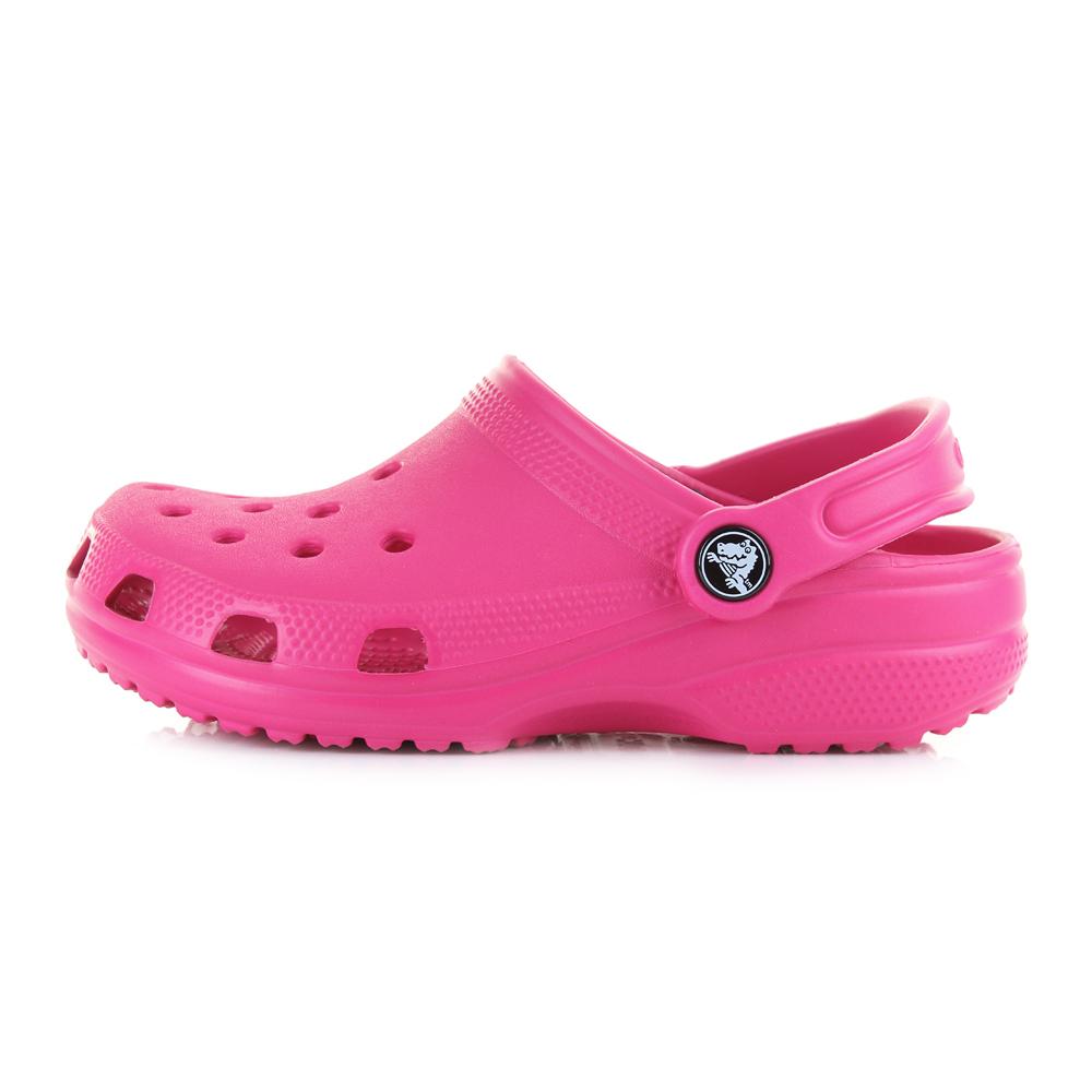 51de6c511f5f Details about Kids Crocs Classic Bright Candy Pink Girls Mule Clogs Sandals  Shu Size