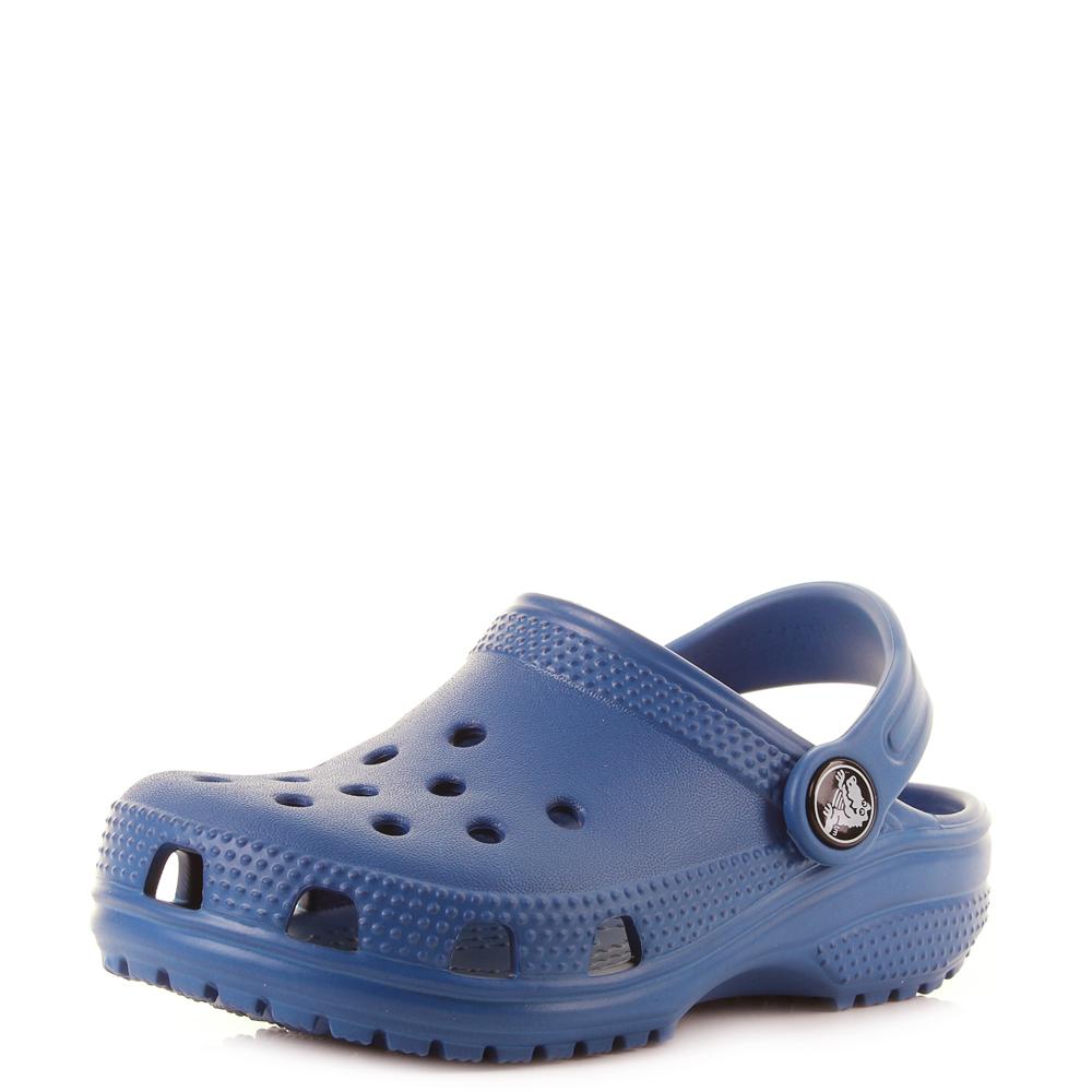 8469833ee Kids Crocs Classic Clogs K Blue Jeans Lightweight Comfort Clogs Shu Size