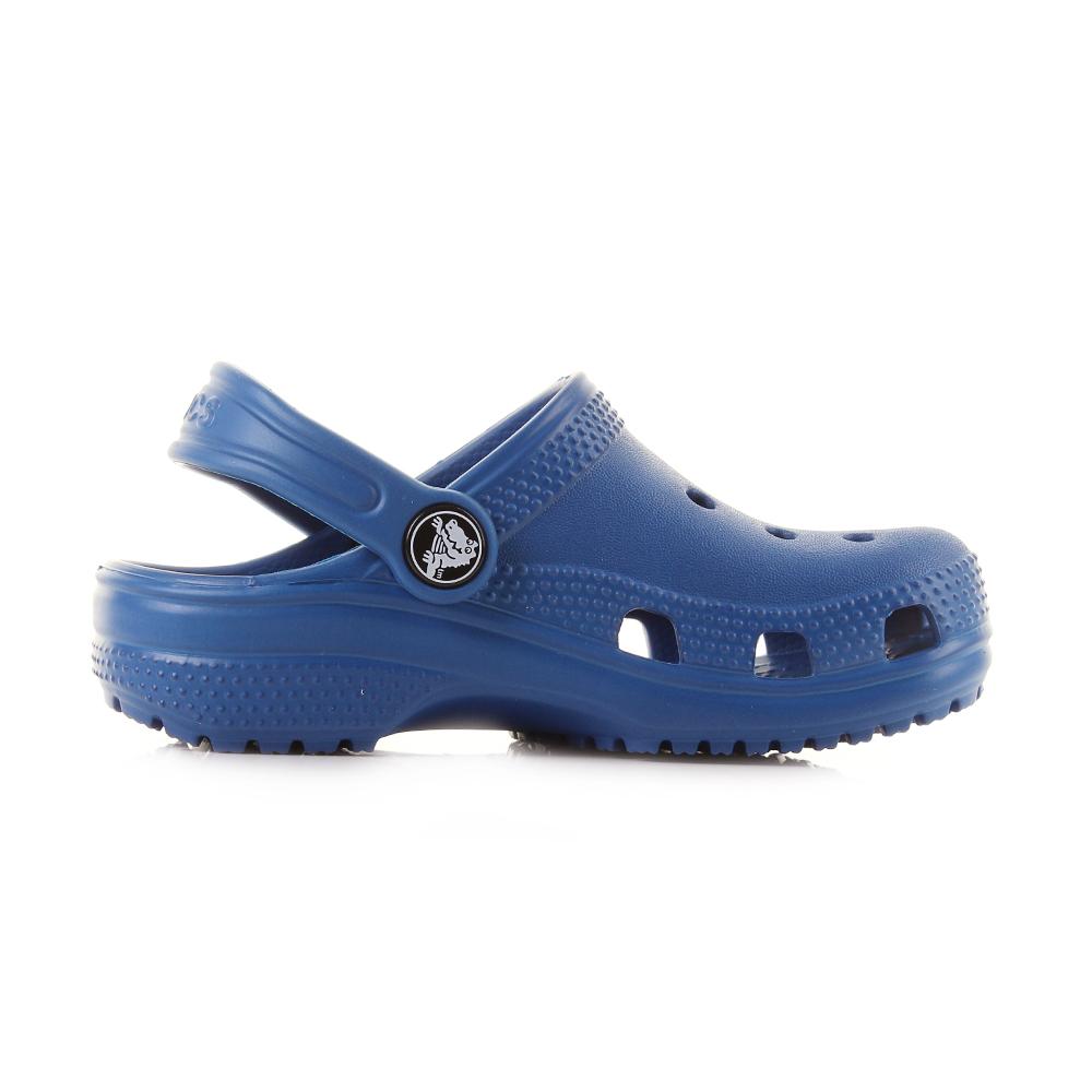 3bb2c2734a15 Kids Crocs Classic Clogs K Blue Jeans Lightweight Comfort Clogs Shu ...