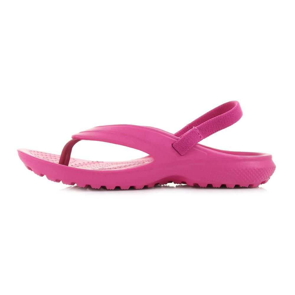 ebf0c98a2 Girls Kids Crocs Classic Flip Candy Pink Iconic Sandals Size
