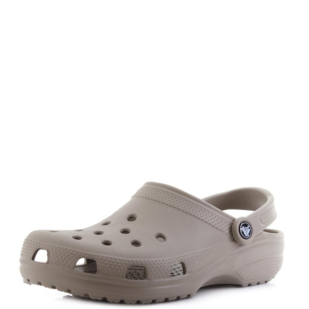 8a589e233717e Details about Crocs Classic Clog Khaki Comfort Durable Practical Clogs  Sandals Shu Size