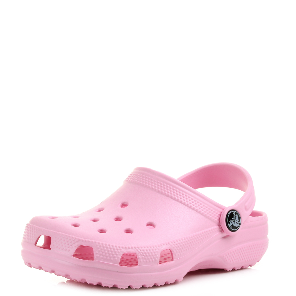 885f53d3a83424 Kids Girls Crocs Classic Clog Kids Carnation Pink Sandals Size