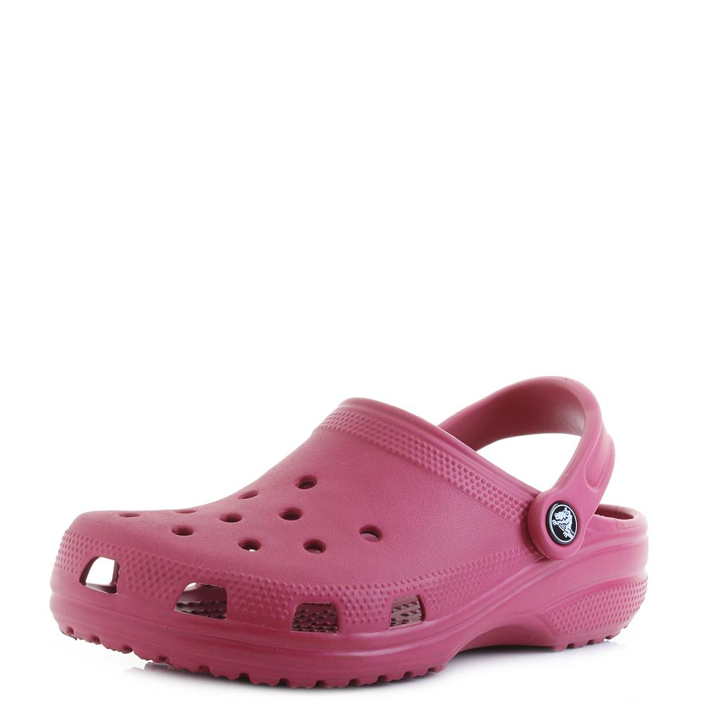 a37454eae24c26 Adult Crocs Classic Clog Pomegranate Comfort Clogs Sandals Shu Size ...