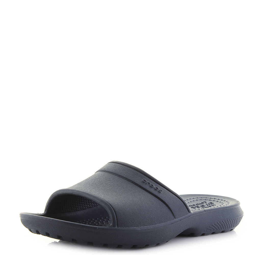 706ee117de12 Details about Kids Crocs Classic Slide K Navy Blue Lightweight Slide  Sandals Shu Size