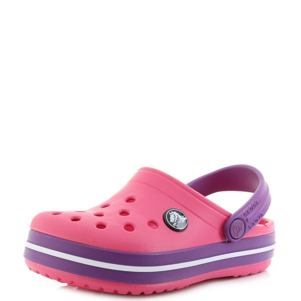 c0271b0f19427 Kids Crocs Crocband Clog K Paradise PInk Purple Clogs Sandals Shu Size