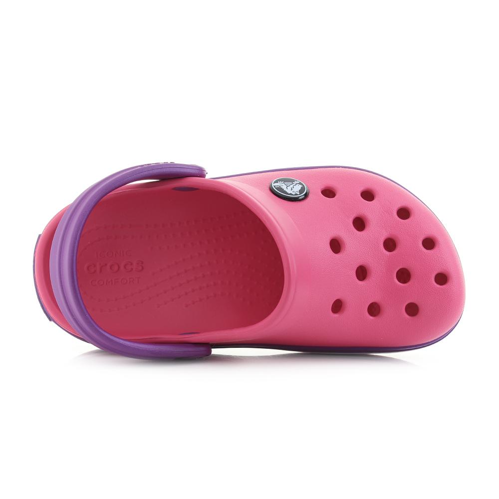 03623d0318aab Kids Crocs Crocband Clog K Paradise PInk Purple Clogs Sandals UK ...