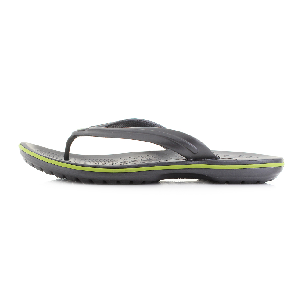049efc93e6181c Crocs 11033 Crocband Flip Flops Unisex Graphite volt Green-0a1 Mens 12  Womens 14. About this product. Picture 1 of 5  Picture 2 of 5 ...
