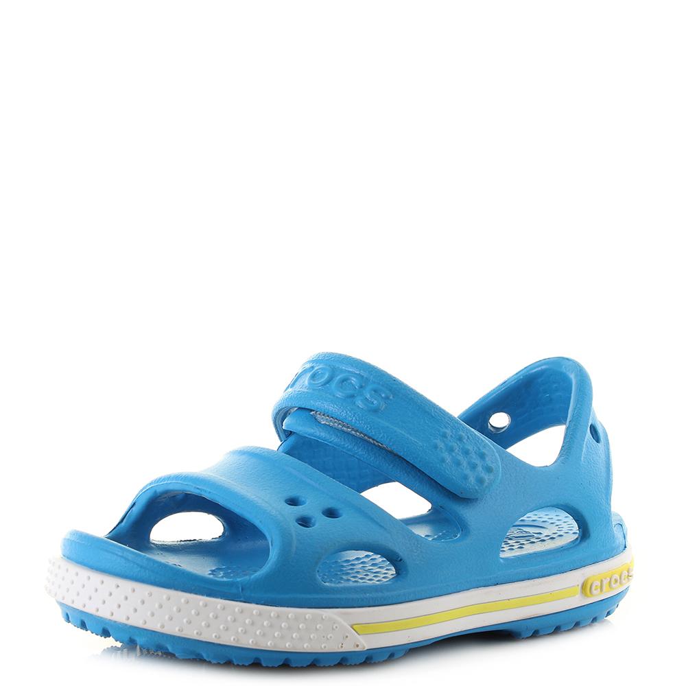 3f3d1d04b52f31 Kids Crocs Crocband II Sandals Ocean Blue Tennis Green Sandals Shu Size