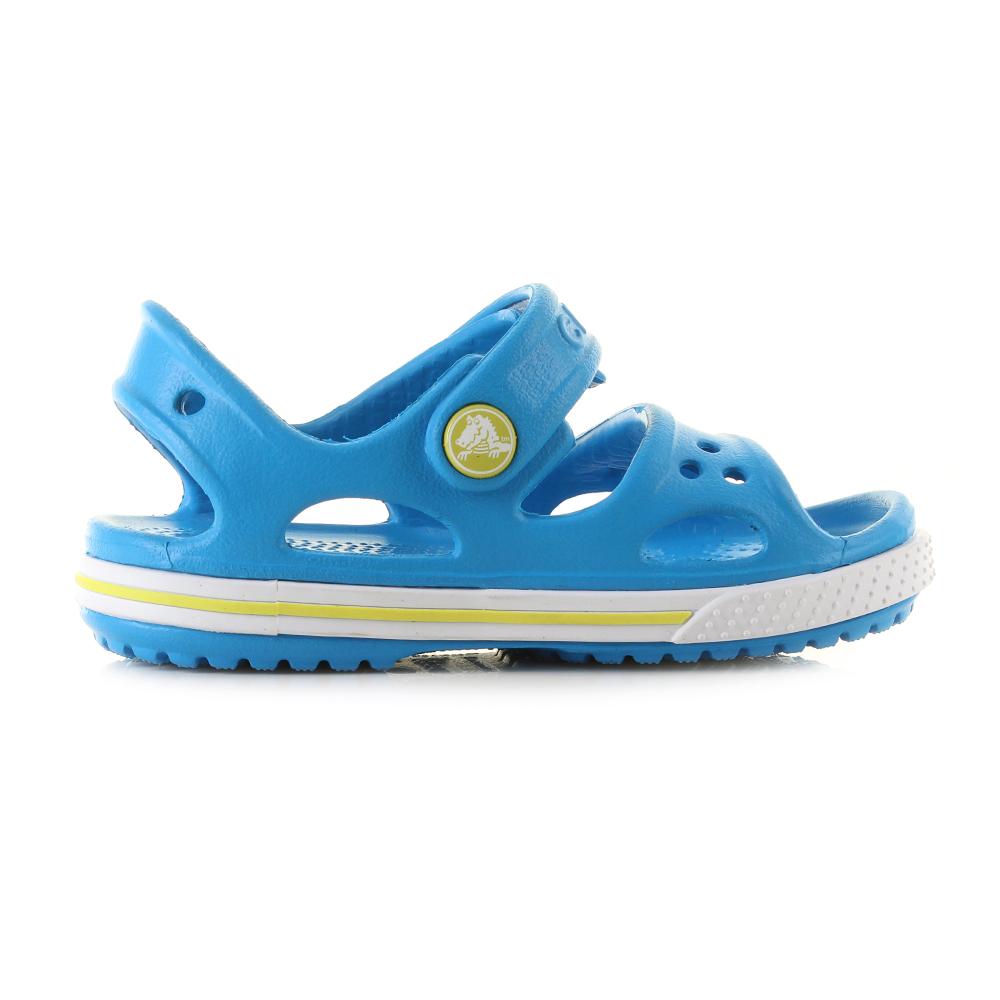 e307adaf976a Kids Crocs Crocband II Sandals Ocean Blue Tennis Green Sandals Shu Size