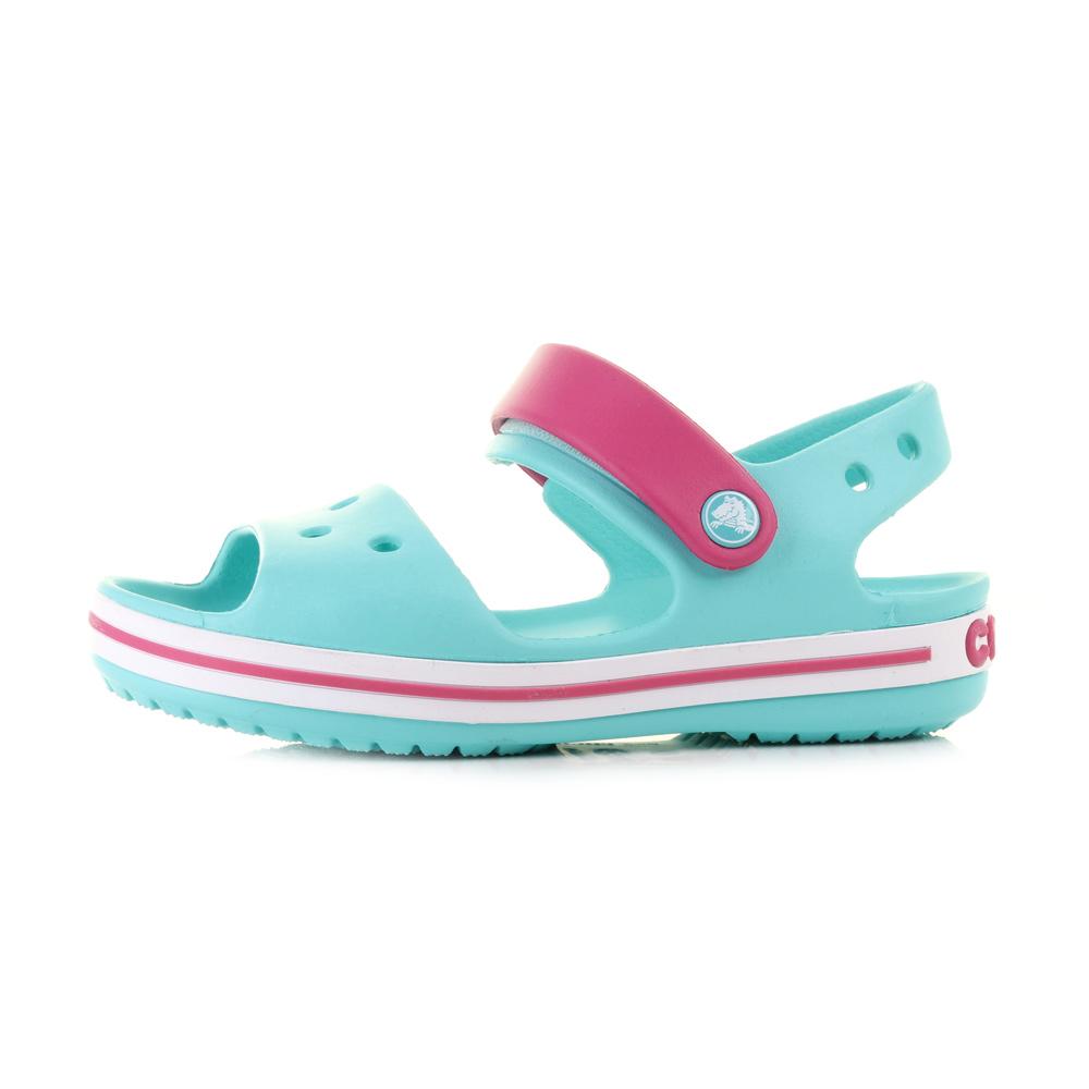 2f2af71a3c3fab Gilrs Kids Childrens Crocs Crocband Pool Candy Pink Sandals Sz Size ...