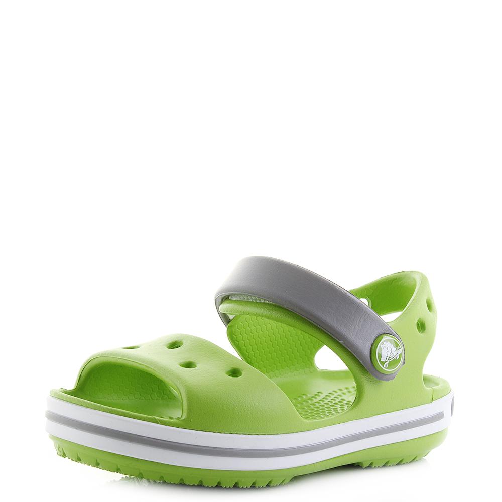 7bf03fffdab8ee Kids Crocs Crocband Sandal Volt Green Lime Summer Sandals Shu Size ...
