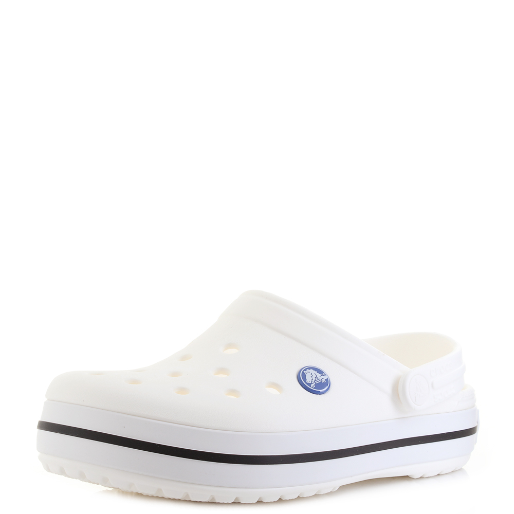 08c9d1ff9ef Details about Crocs Crocband Clog White Comfort Durable Practical Clogs  Sandals Shu Size